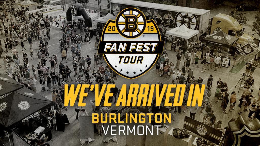 Burlington, VT - youre up next on the #BruinsTour! 📍: Jeffords Hall Lot ⏰: 11AM - 3PM Pre-register now: BostonBruins.com/FanFestRSVP
