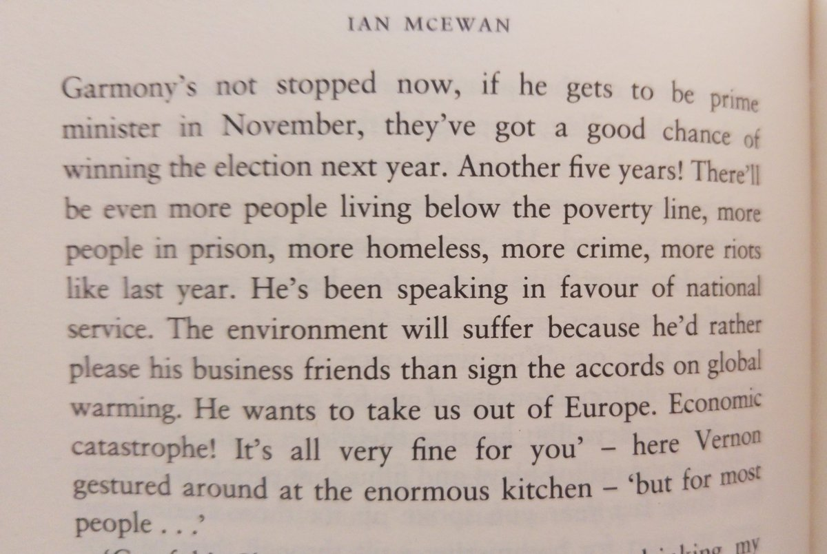 This is a paragraph from Ian McEwan's Amsterdam, published in 1998. The man is a visionary. <br>http://pic.twitter.com/stgbB1YYpw