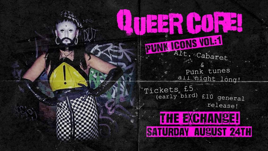 This #Saturday, #Bristol we are #QUEER to the Core!!!! This is gonna be one huge celebration of punk as fuck #RadicalActsofRebellion, get yr tickets NOW!  @ExchangeBristol #wiginaboxpromotions