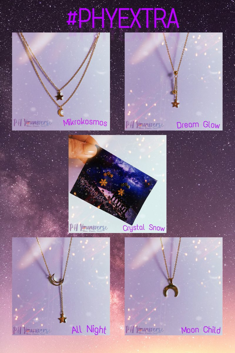 Introducing the new designs for #PHYEXTRA: Mikrokosmos, Dream Glow, Crystal Snow, All Night, and Moon Child.  Inclusions:  1 Random Set Photo cards (7 members) 1 Random Sticker 1 Random Group Postcard <br>http://pic.twitter.com/fkyK1NZsDM