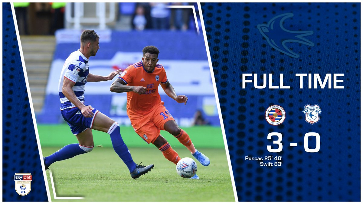 FULL TIME: @ReadingFC 3-0 #CardiffCity An afternoon to forget for the #Bluebirds. #CityAsOne