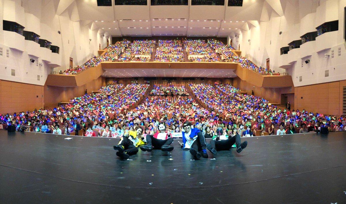 SMT2019大阪公演お疲れ様でしたー!今日マジで暑過ぎてヤバかったが熱かったなぁ!?また皆でもうかりまっかー!?この後生放送やるよ!