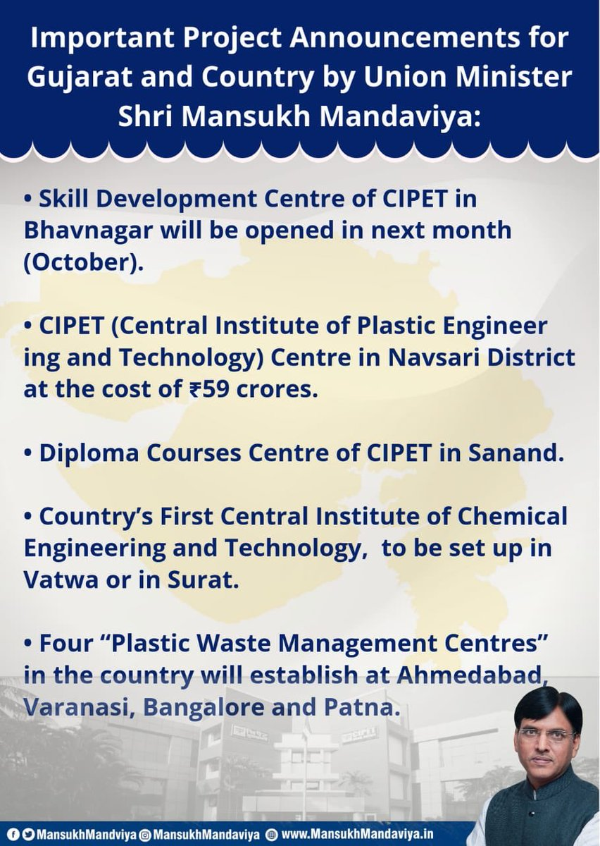 India's first ever institute of chemical engineering to come up in Gujarat