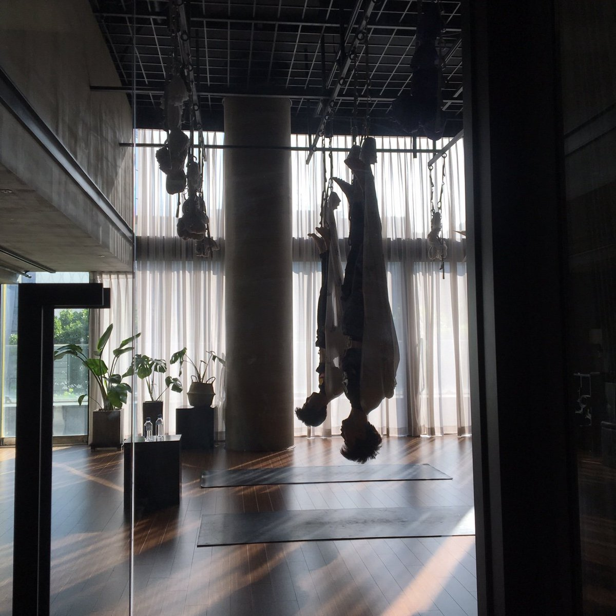 The world is even beautiful upside down. And so is this photo from our new JCC video with Mark. Go check it out!✌️- Johnny youtu.be/dsHkeNX3pLA #NCT #NCT127 #JCC #JOHNNY #MARK #FlyingYoga #AerialYoga