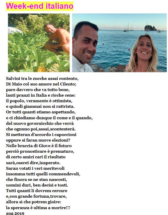 Salvini tra le zucche, Di Maio al mare