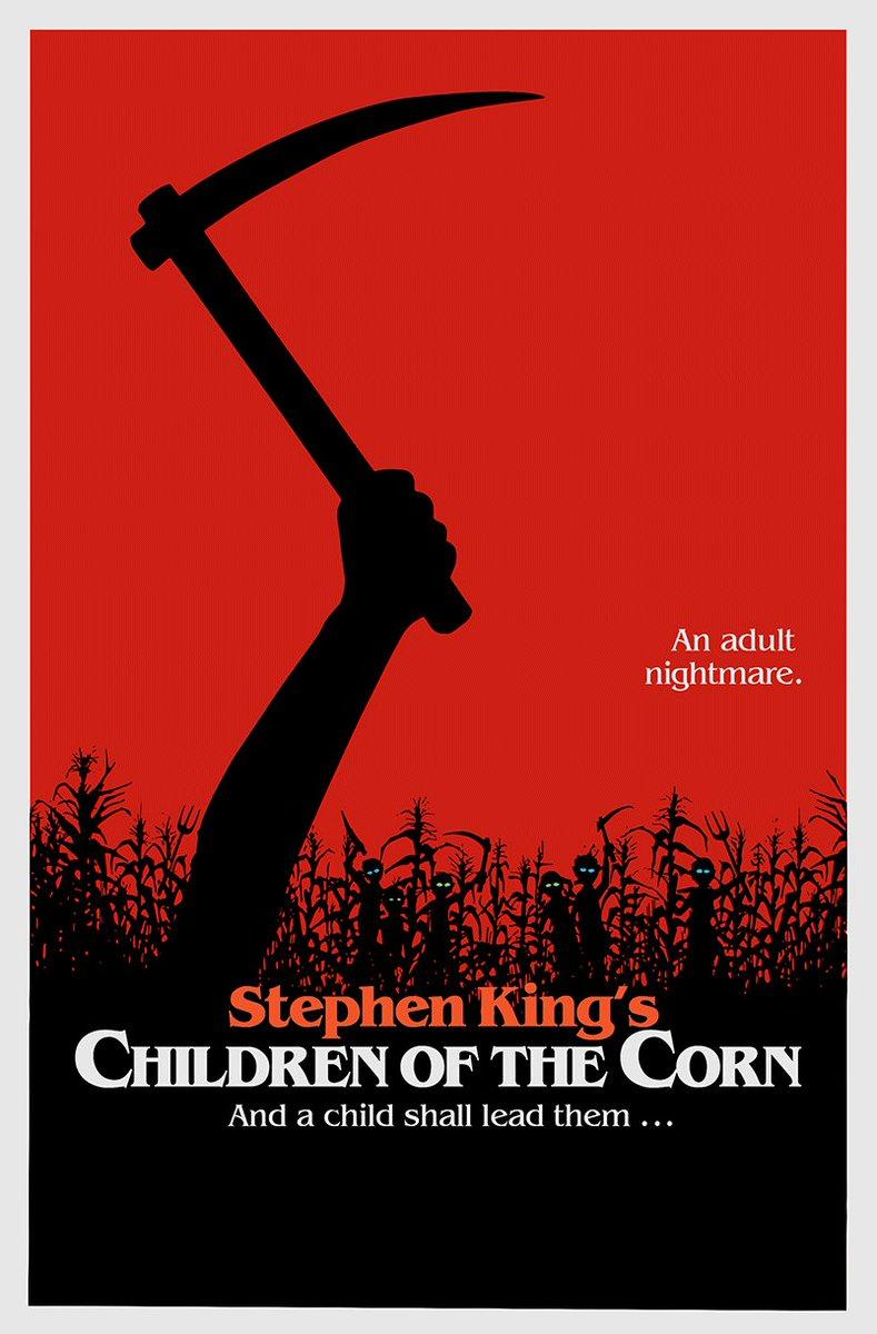CHILDREN OF THE CORN (1984) @StephenKing #horror #poster