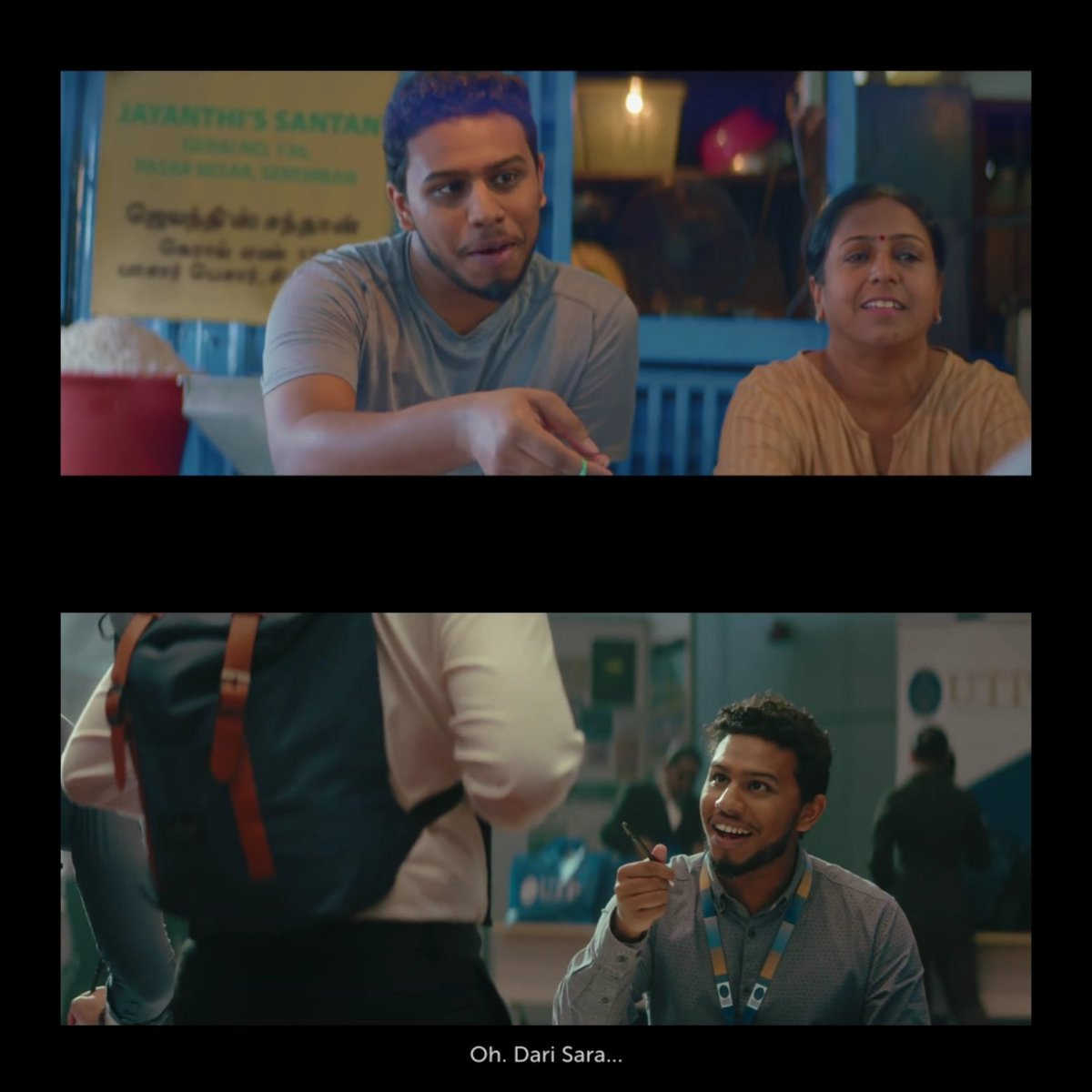 """This Kumar guy apparently on a holiday in Hari Raya ad, want to """"merisik"""", appeared in merdeka ad helping Roger in the registration part, could be a senior in UTP. Not surprised this year 2019 Deepavali ad will feature Kumar and Jayanthi. #petronas <br>http://pic.twitter.com/D5RQtc5x6S"""