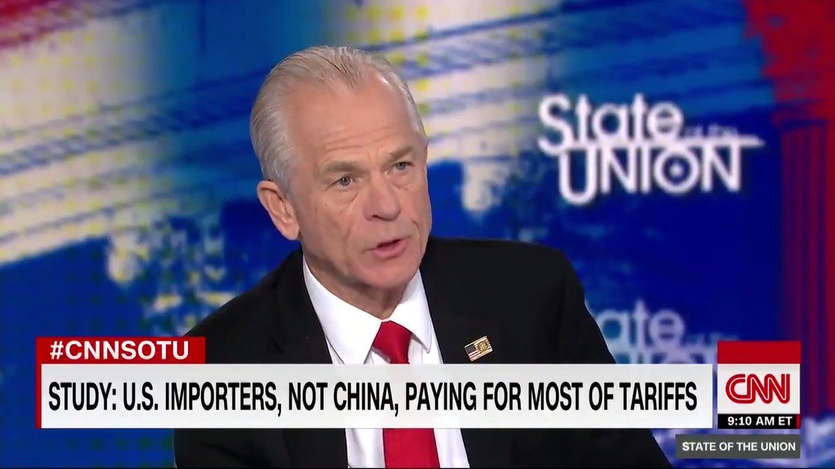 Trump Trade Adviser Claims China Tariffs 'Not Hurting Anybody' In U.S.