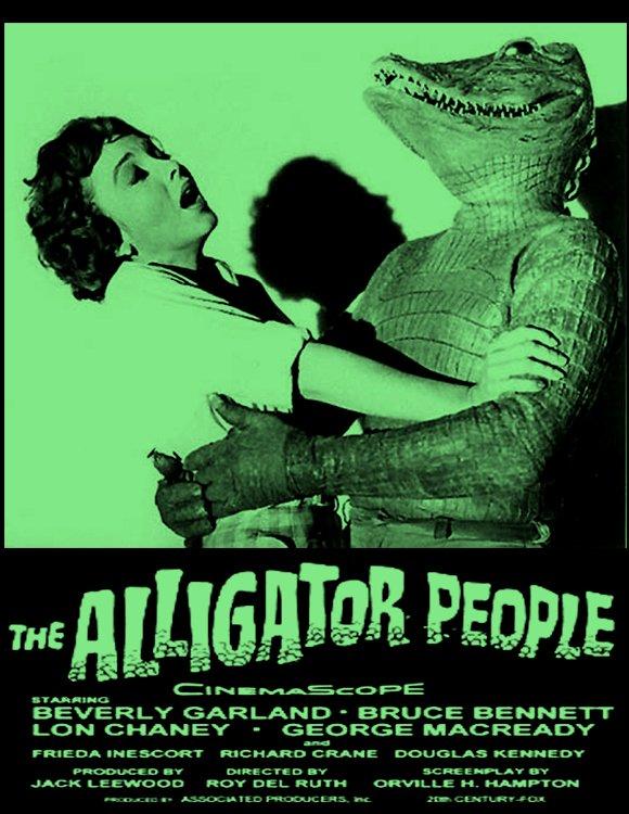 THE ALLIGATOR PEOPLE (1959) #scifi #horror w Lon Chaney Jr.