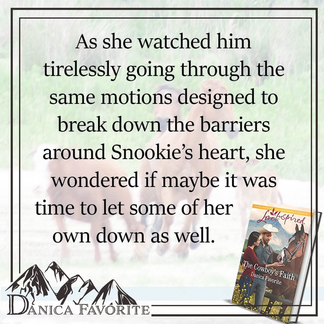 What has working with animals taught you about yourself? For Nicole, working with her horse, Snookie, she learns a lot about love. Read more in The Cowboy's Faith, available now:  http:// bit.ly/2WgFCMQ      #bookquotes #inspiration #books #christianromance #faith #horses <br>http://pic.twitter.com/EWmWOv4rU6