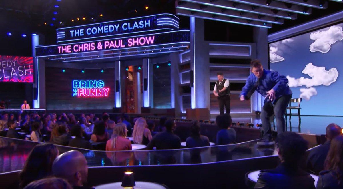 The Comedy Clash round! #chrisandpaulshow #chrisandpaul #bringthefunny @nbcbringthefunny 🚔🏦💰💸😁