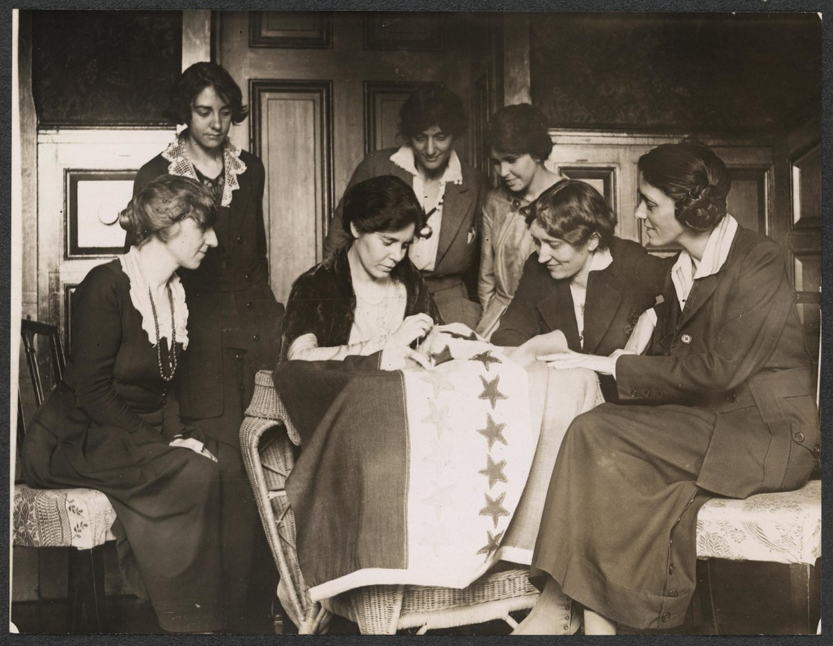 """Asked why she persisted in the fight for women's suffrage, ratified August 18, 1920, Alice Paul said: """"When you put your hand to the plow, you can't put it down until you get to the end of the row."""" With thanks to our forebears for all theyve fought for, the work continues."""