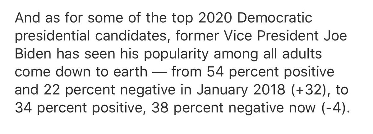 NBC/WSJ polling has gravity kicking in for Biden just as it did for Clinton — always easier to be loved when you are not an active candidate  <br>http://pic.twitter.com/VKY0Y8y2PJ