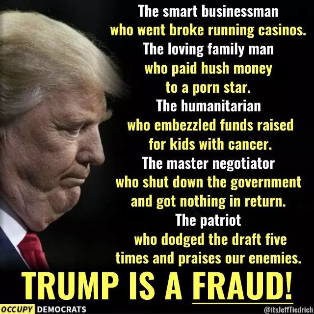 Deregulation of protections for the environment! Destroying affordable healthcare! Tax cut for the rich! Adding TRILLIONS to the debt! Great job!  You Delusional treasonous pathological lying fucking moron conman rancid fishlips incompetent corrupt clueless ASSHOLE! #JailTimeSoon <br>http://pic.twitter.com/bO1WqGpU8c