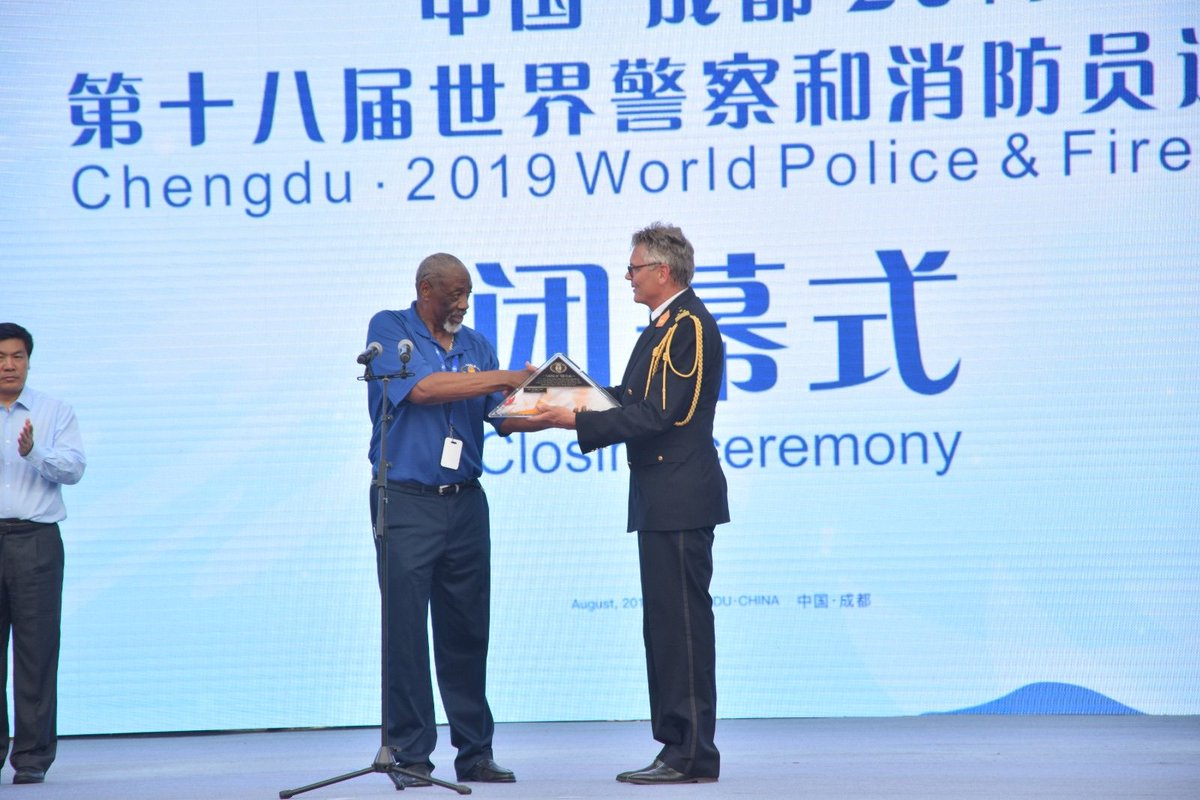 The World Police & Fire Games in China have come to an end. Thank you, Chengdu, for an amazing edition! For now, Rotterdam is the next host city of this great sport event. Thank you for giving us the World Police & Fire flag! #wpfg2019 #wpfg2021