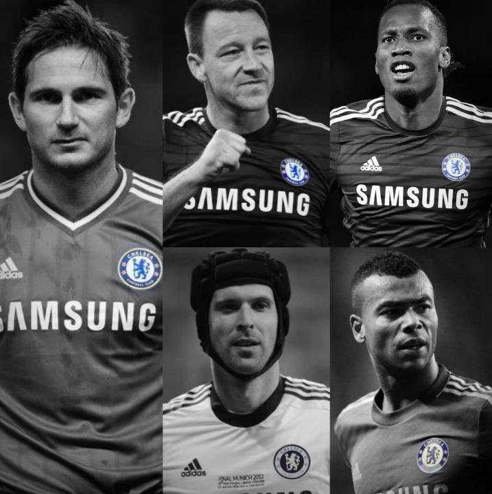 ➔ Febrero del 2017: Frank Lampard se retiró. ➔ Octubre del 2018: John Terry se retiró. ➔ Noviembre del 2018: Didier Drogba se retiró. ➔ Mayo del 2019: Petr Cech se retiró. ➔ Agosto del 2019: Ashley Cole se retiró. EL FIN DE UNA ERA.