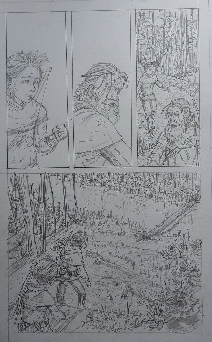 kicked out another page on this sequence today. pencils are a bit rough but gives me plenty to ink from and smooth it if i can.  #makingcomics #comicbookart #pencils #comics #graphicnovel #historicalfantasy #sequentialart <br>http://pic.twitter.com/nsDVVElGwr