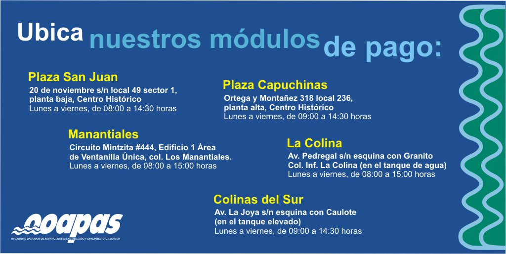 Ooapas Morelia On Twitter Conoce La Ubicación Y Horarios