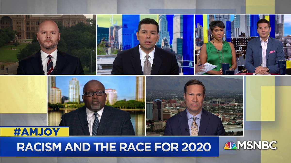 .@Deggans: People of color often have to deal with systemic racism and prejudice in all sorts of areas of life from education to employment. Its important I think to listen to those voices. I believe people of color are the canary in the coal mine for American society... #AMJoy