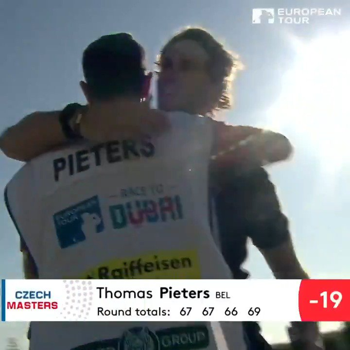 Thomas Pieters, the 2019 Czech Masters Champion 🏆 @Thomas_Pieters #CzechMasters