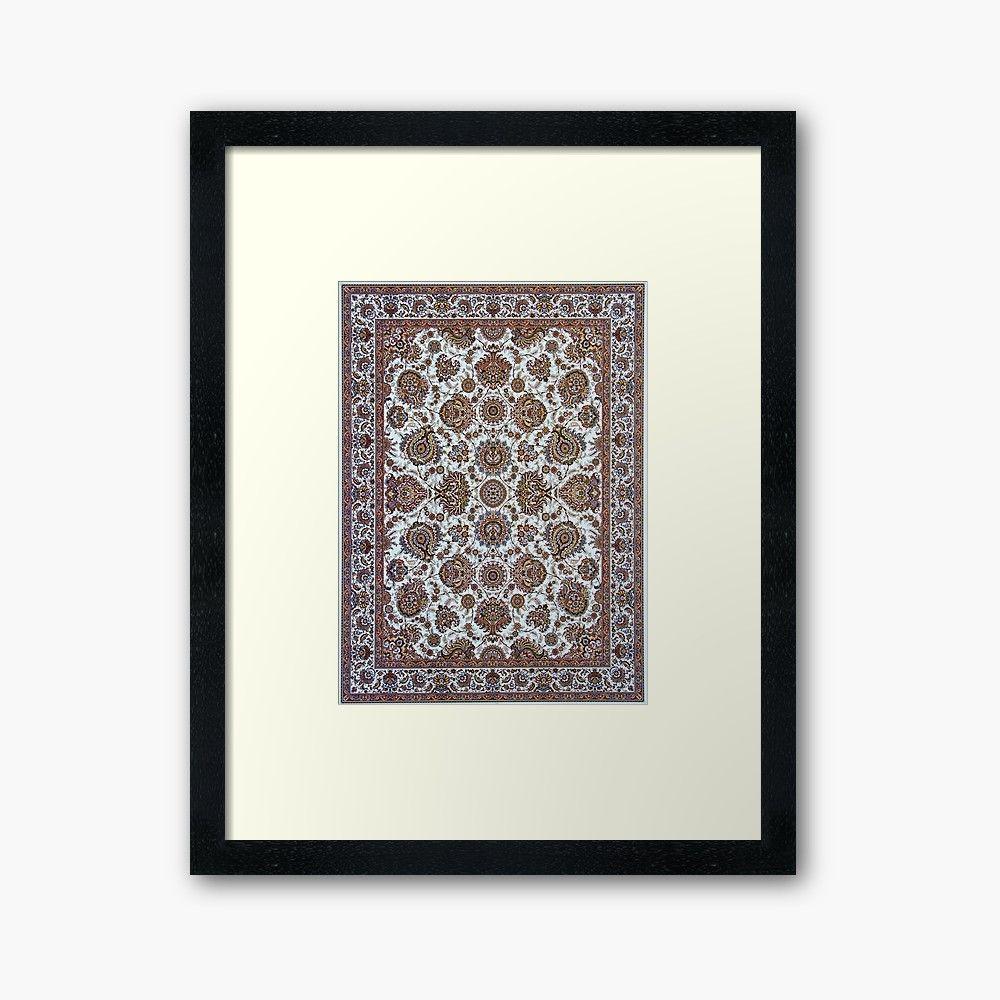 """Antique Persian Carpet"" Framed Art Print by ryanrad7 | Redbubble https://www.redbubble.com/people/ryanrad7/works/40605859-antique-persian-carpet?asc=u&p=framed-print&rel=carousel#&gid=1&pid=1…....#design #rug #luxury #rugs #art #homedecor #interior #decor #decoration #persianrug #carpet #carpets #shop #shopping #shopify #shoponline #shopvintage #framed #art #print #artprint"