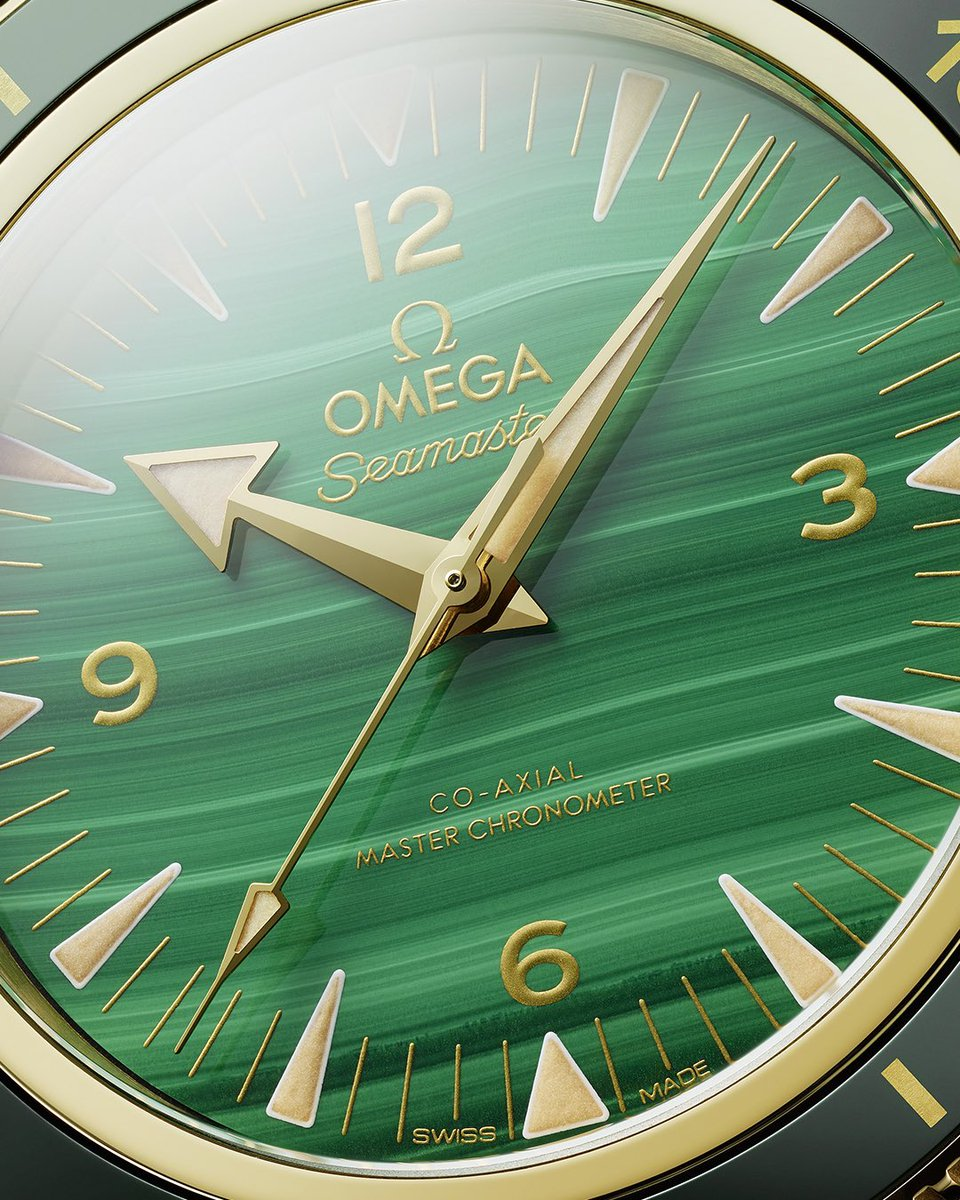 LATEST RELEASE! Some dials demand to be seen. Introducing the #Seamaster 300 with malachite. omegawatches.com/Seamaster300Ma…