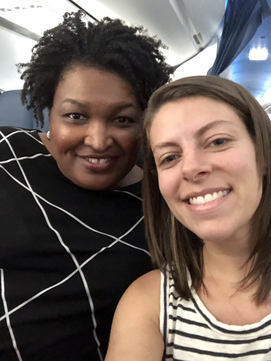 .@staceyabrams is one of my biggest role models and also SO sweet! Thank you for fighting for voter protections with @fairfightaction. Always great seeing a fellow @TheLBJSchool alumna. #FairFight2020<br>http://pic.twitter.com/3QLa9Gk9QP