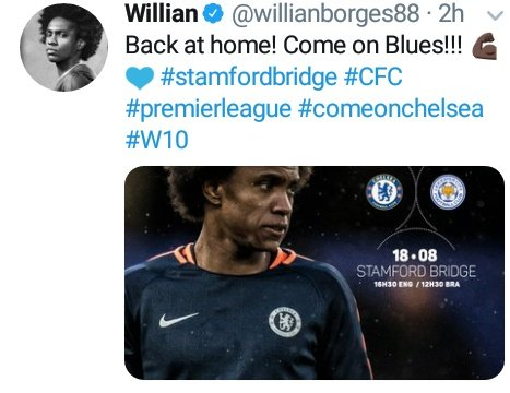 Willian shouldn't be allowed to play for Chelsea, he should be employed as a motivational speaker of the club. He is really good at this shit  #come_on <br>http://pic.twitter.com/urc5ih4v4F