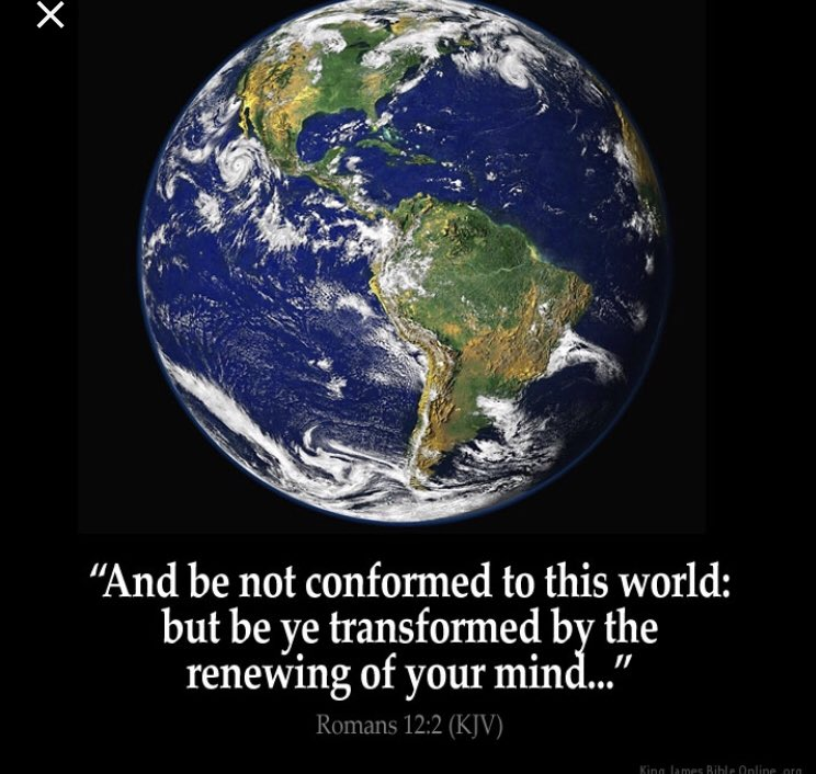 Scripture Of The Day: Romans 12:2 King James Version (KJV)  2 And be not conformed to this world: but be ye transformed by the renewing of your mind, that ye may prove what is that good, and acceptable, and perfect, will of God. #JesusIsLord #JesusSaves<br>http://pic.twitter.com/FsnOJD3o7i