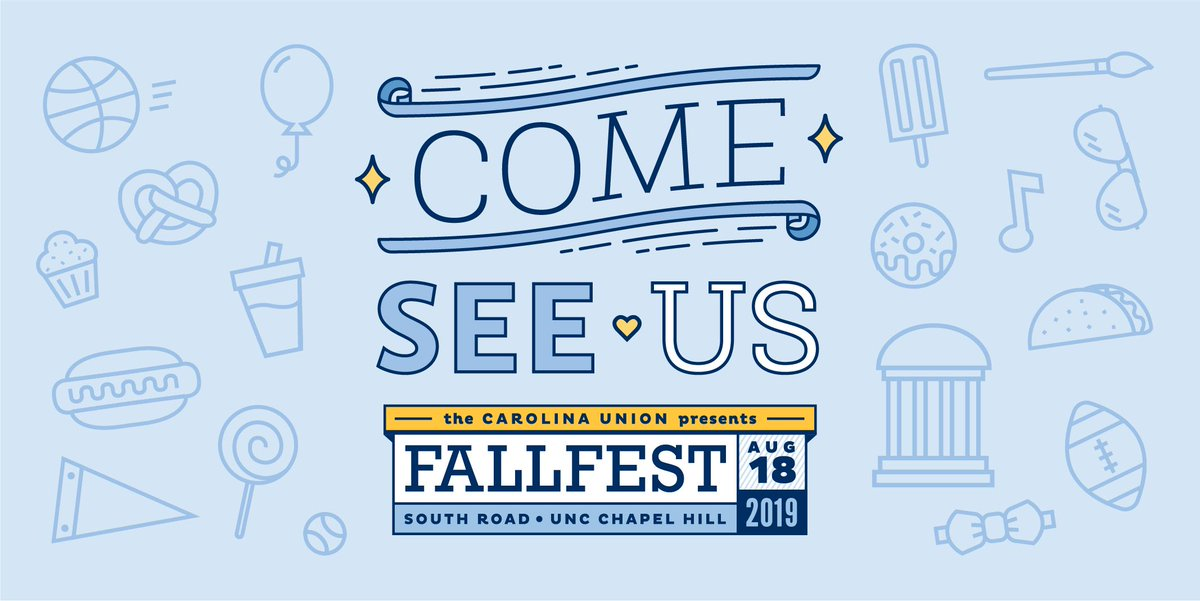 Just a few hours to go! We hope you'll come see us at New Student Convocation and #UNCFallFest tonight 😍 #UNC | #UNCWOW2019 | #UNC23 https://t.co/hKpIqD4ZoB