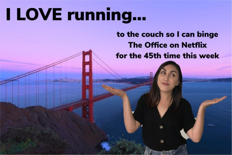 Un-motivational Posters Series: Danica Get off the couch and get motivated for America's Most Beautiful Run! #BridgeToBridge is exactly one week away and you still have time to register 🌉 🏃♀️🏃🏽♂️🏃🏾♀️🏃🏻♂️ ➡️bridgetobridge.com