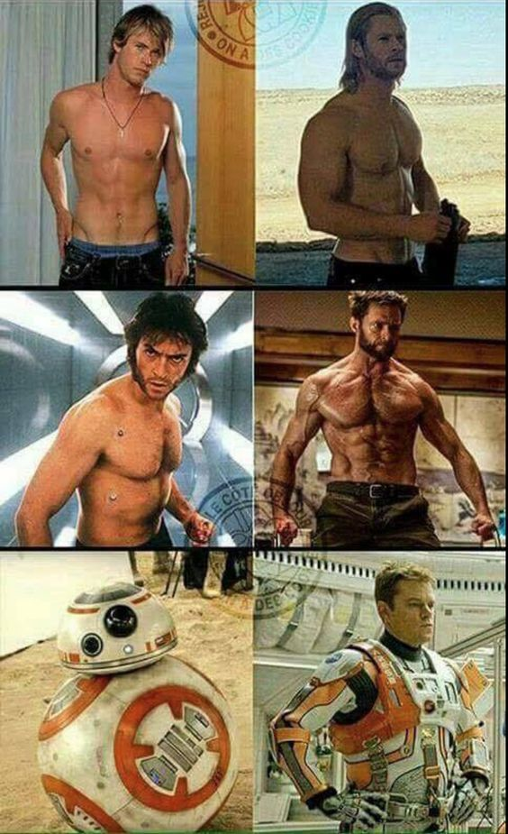 Check out these crazy superhero body transformations!