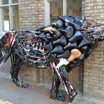 Image for the Tweet beginning: Lion made out of #bicycle
