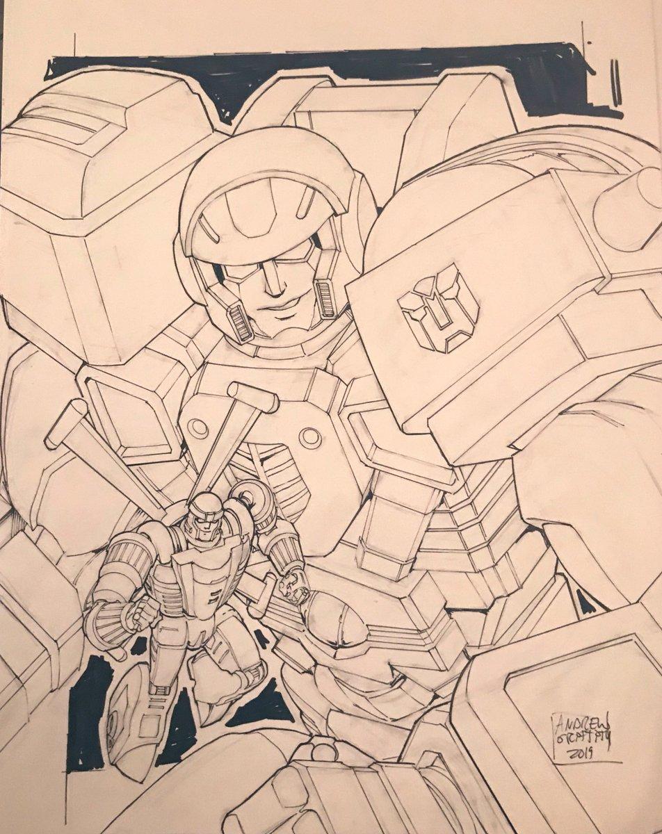 #Transformers #Armada #Hotshot and #Jolt commission done for @tfnationltd
