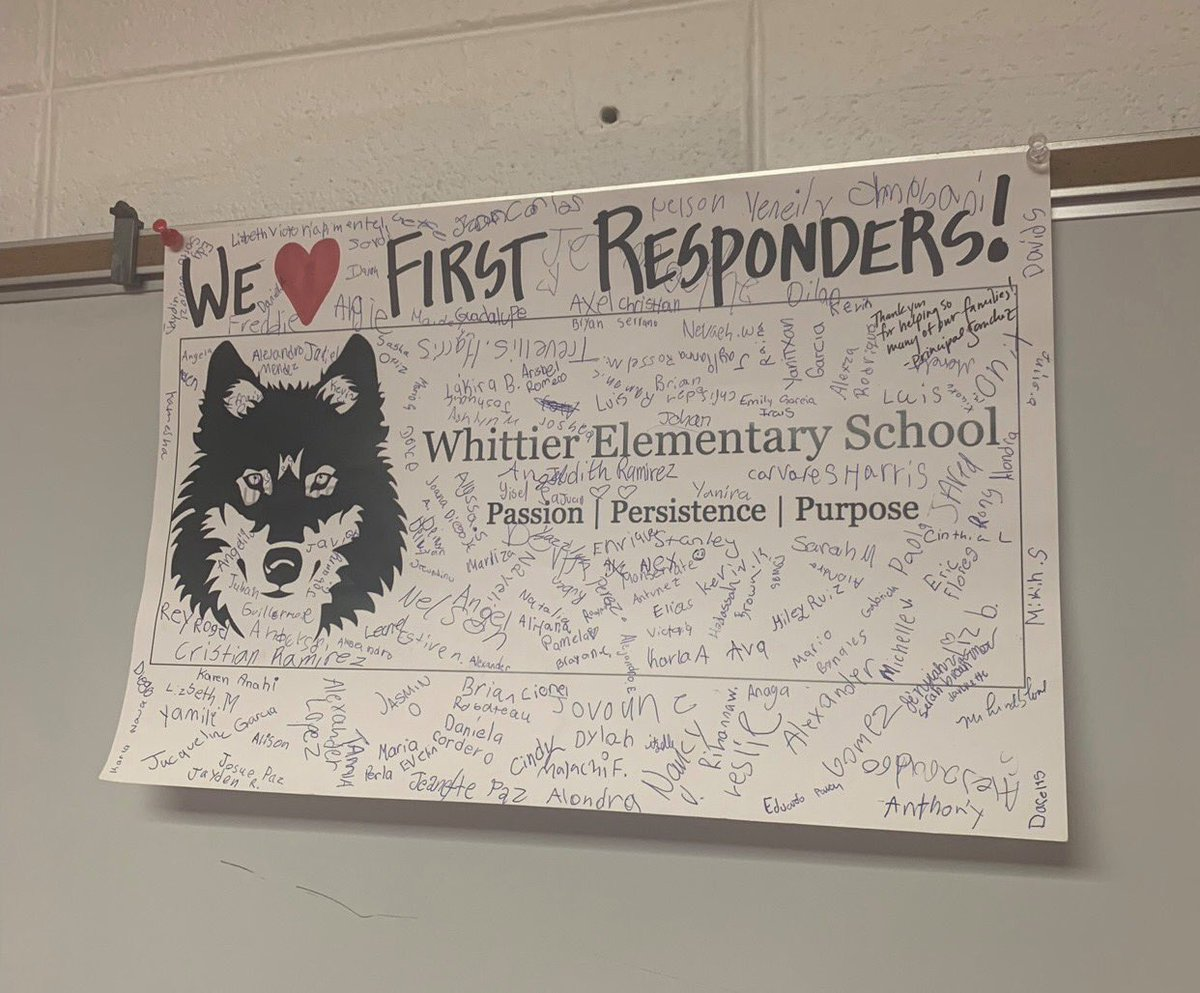 A shout out and BIG thank you to the students and staff at Whittier Elementary School for the awesome card and kind words! It is proudly displayed in our line up room for all to see! #thankyou #waukeganpolice #whittierelementary https://t.co/pHBDuoKh7s