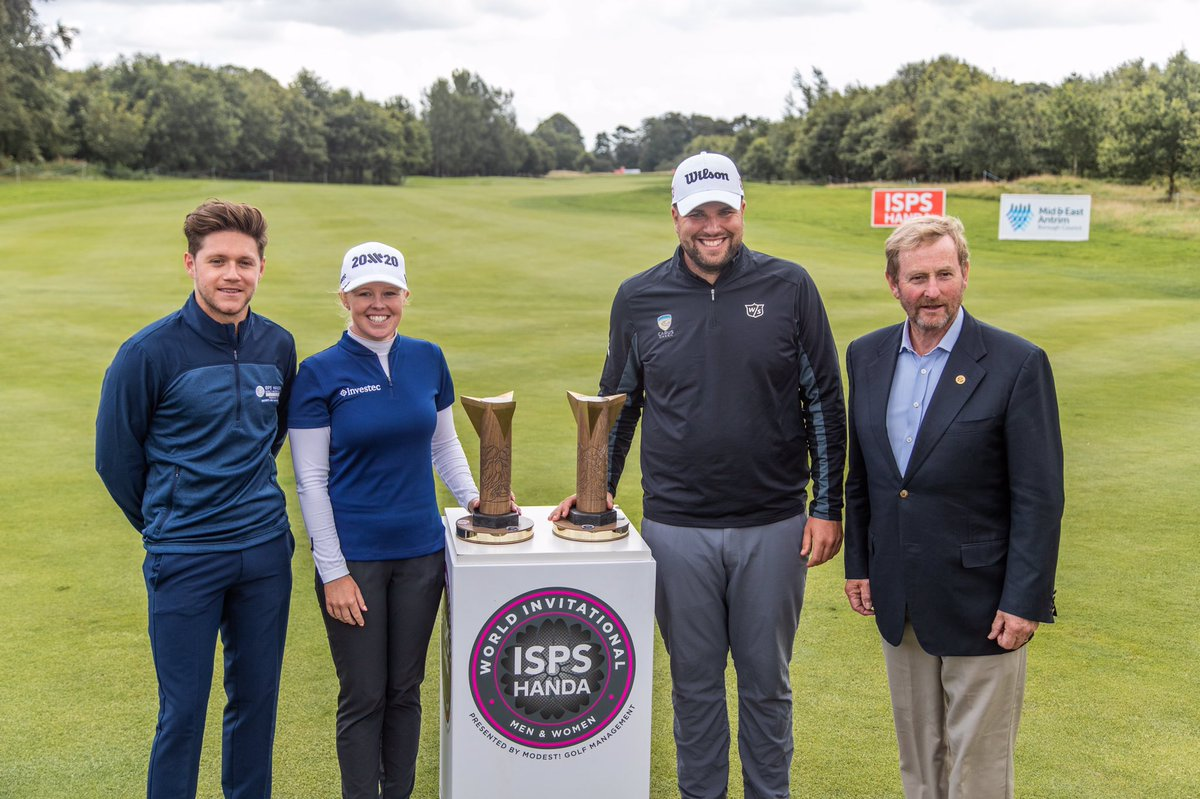 History made at the ISPS Handa @World_Inv_Golf! A thrilling play-off win saw @jacksenior lift the men's trophy and it was a fairytale ending for Northern Ireland's @StephMeadow20 who lifted the women's trophy!