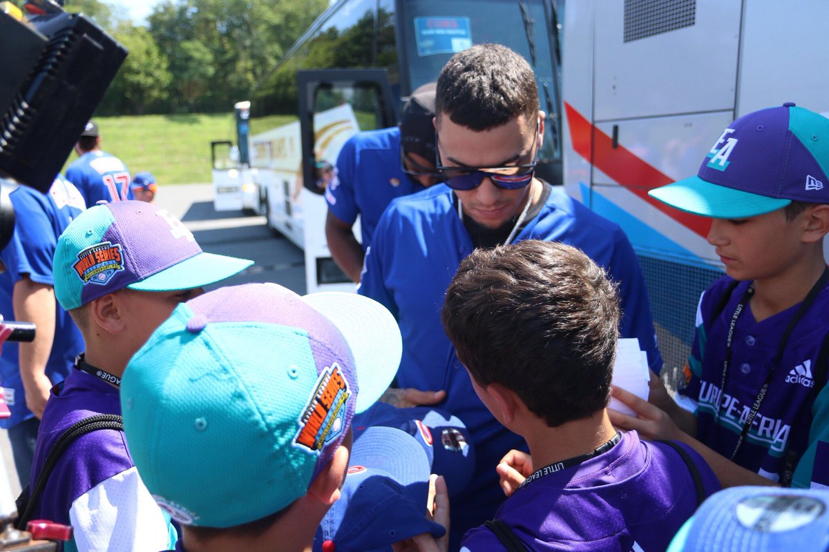 Javy, Rizzo and the @Cubs are in Williamsport! @GEICO #LittleLeagueClassic