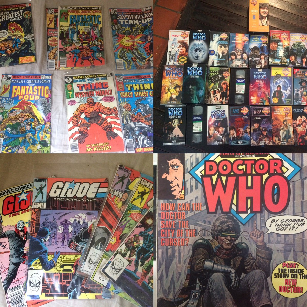 The foundations of my nerd-dom run very deep indeed. So many influences I'd half-forgotten about (and some I'll never forget for a moment).  #nerdalert #nerdy #Writers #WritingCommnunity #DrWho #GIJoe #fantastic4 #VHS #GeekyThingsAboutMe
