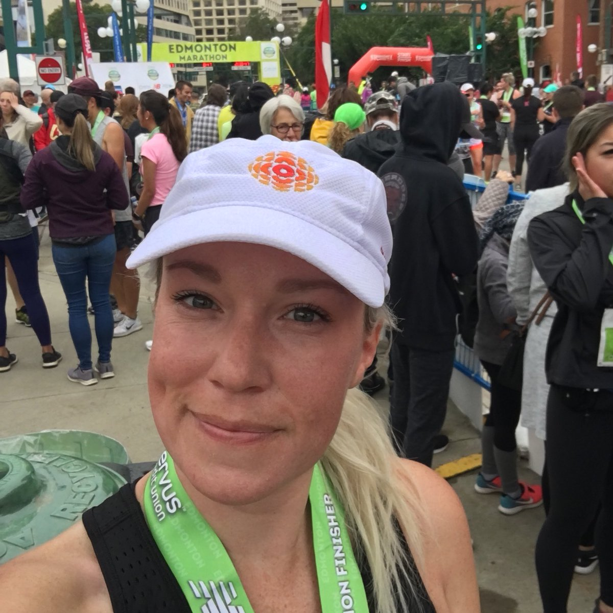 UPDATE: I did it! And in the time I'd hoped. Which means you can also do anything you put your mind to! Thanks for the fun day @Edm_Marathon! #rungoals #halfmarathon<br>http://pic.twitter.com/BEMopsZfAH
