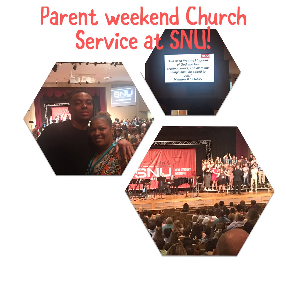 @TheNoahHaygood Really enjoyed Parent weekend @SNU was great! I'm going to miss my baby and I know he's in great hands here! #Godfirst @SNUFootball @SNUAthletics