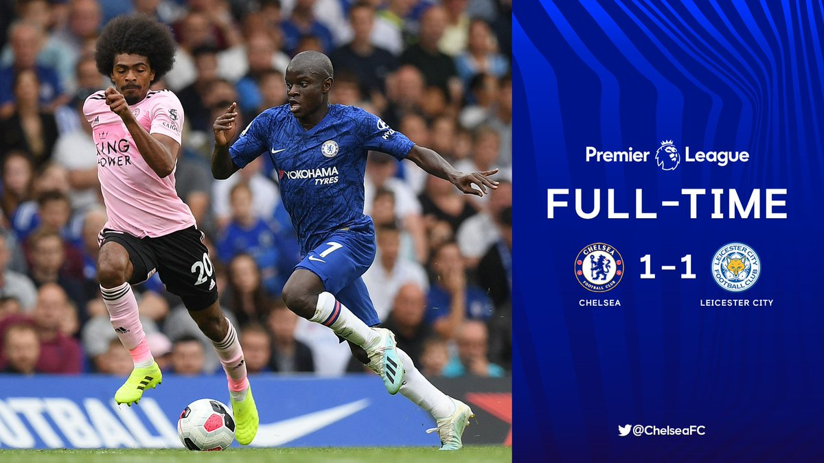Full-time: Chelsea 1-1 Leicester #CHELEI