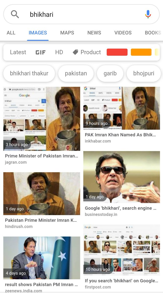 Not only Google even Twitter is showing up @ImranKhanPTI when you search for #Bhikhari 🤣😂🤣