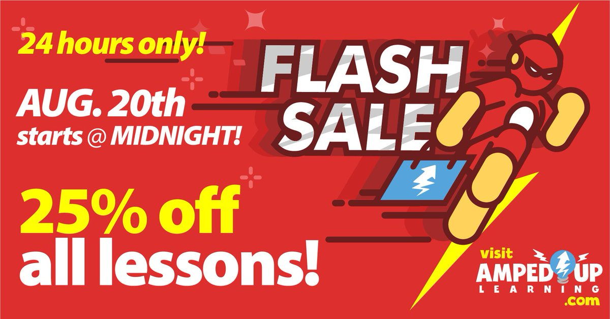 TUESDAY!!! TUESDAY!!! TUESDAY!!! 24 hour FLASH SALE 25% off all lessons TUESDAY.