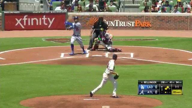Cody got juuuust enough for No. 42. #MLBTwitterHitter