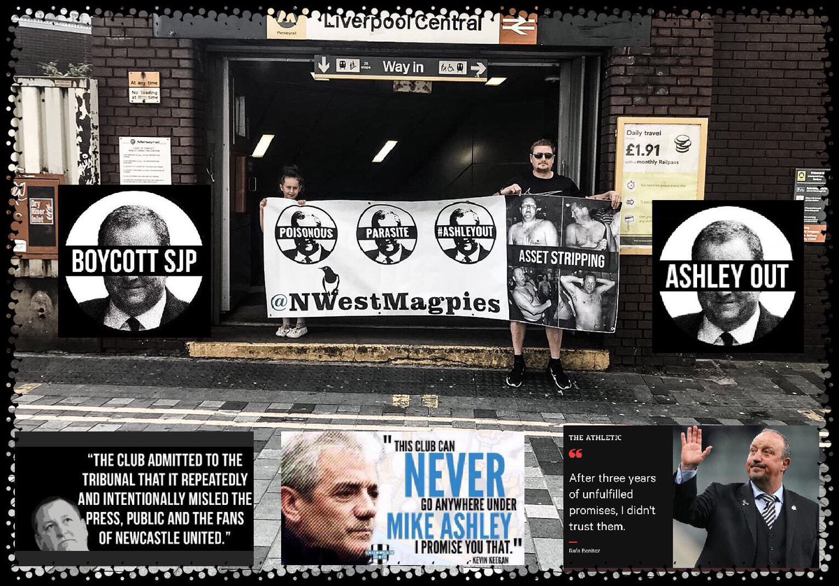 This is Danny and Ava. Danny is one of our members and Ava is his daughter. They sent this to us today. Make a stand and show that you've had enough of the parasite sucking #NUFC dry.  #AshleyOut #BoycottSJP This isn't blowing over! <br>http://pic.twitter.com/Pc7ob3d6KV