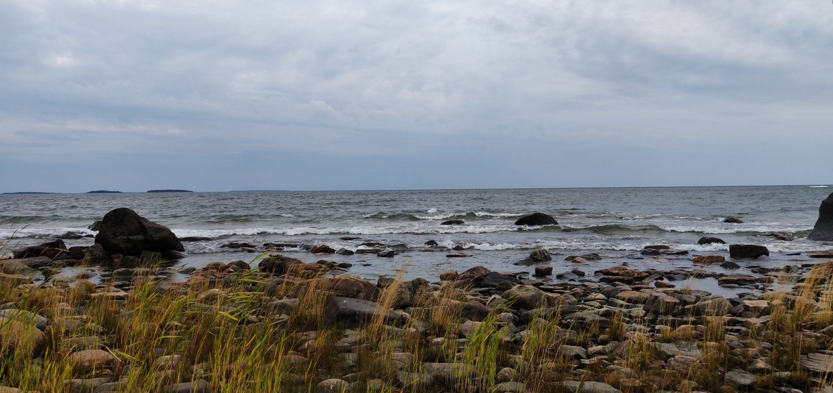 Beautiful sea evening landscape.🐳😃Wish you a happy new week!💙