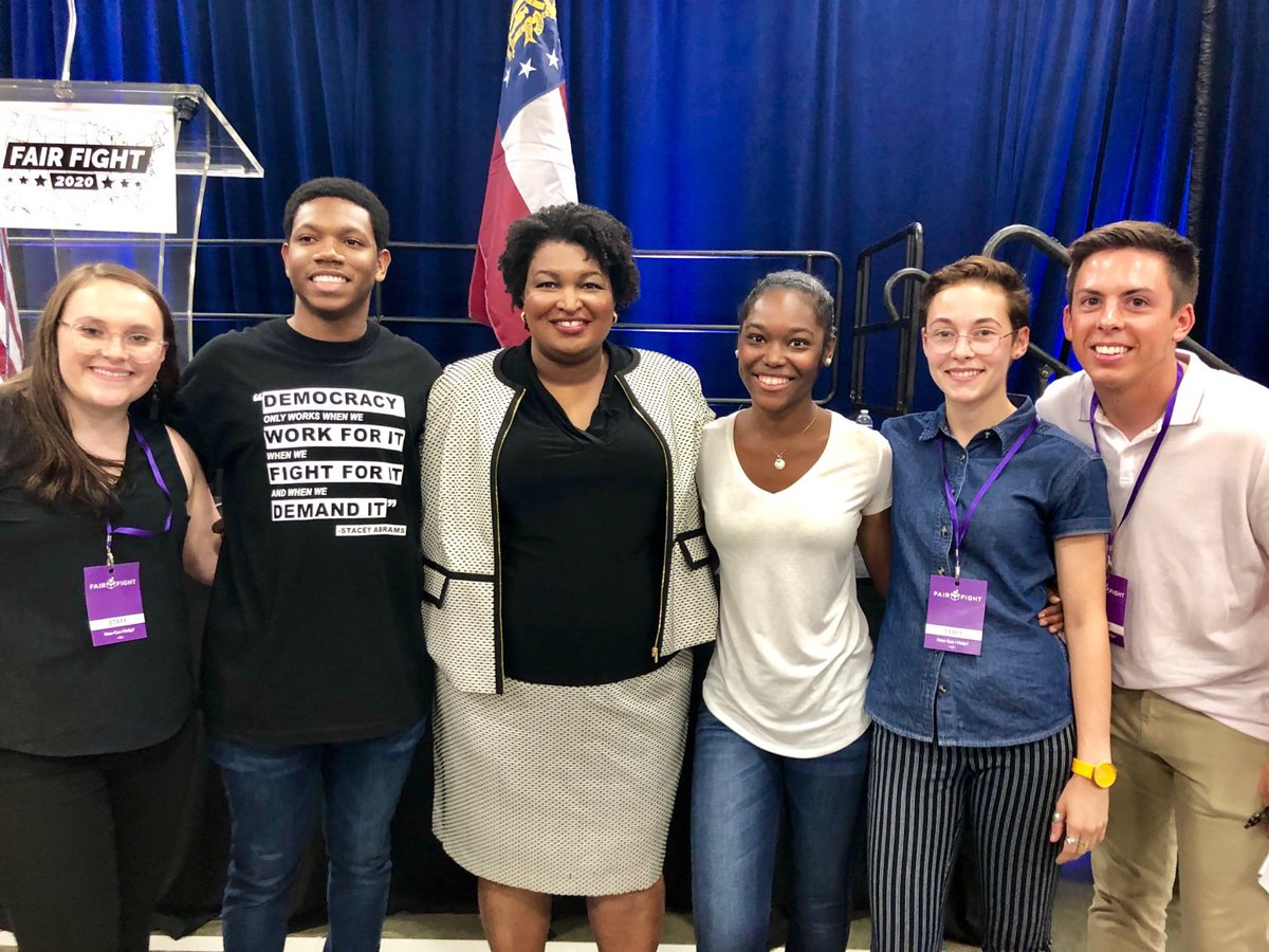 What a fantastic @fairfightaction FELLOWS team who staffed the FairFight2020 Kick-off event on Saturday. We are very grateful for their assistance at Fair Fight.  @staceyabrams <br>http://pic.twitter.com/kPYboYDvts