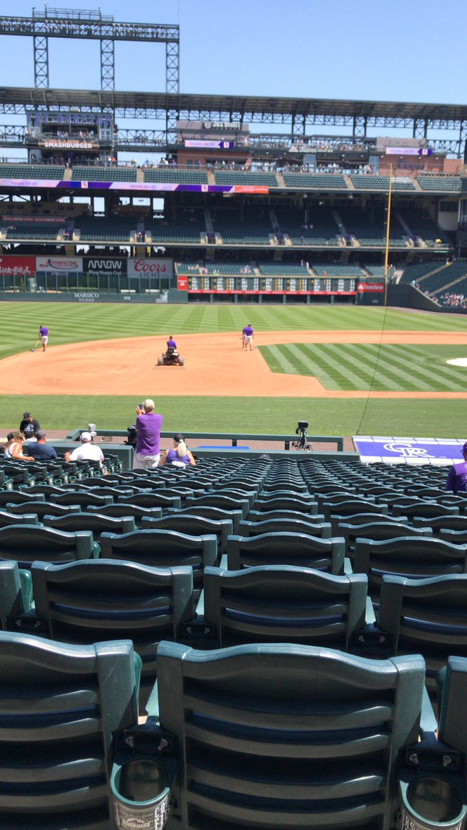 Fun at @coorsfield #lotteryseatupgrade @ColoLottery Sec139, 7&8<br>http://pic.twitter.com/V5PSrQnKlD