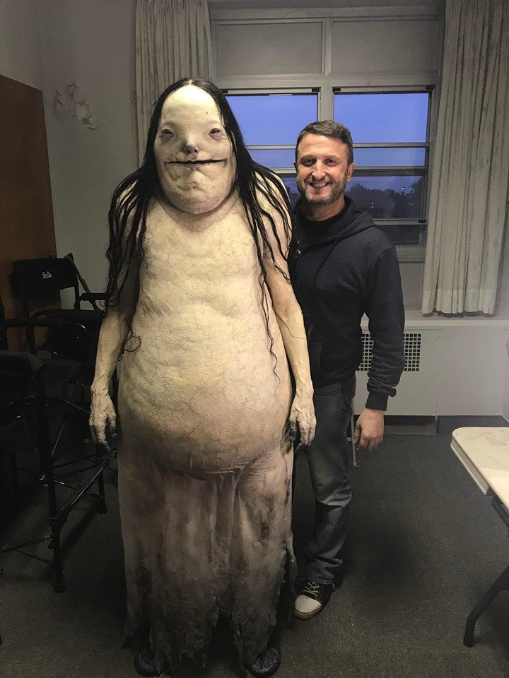 My dream date... :) Thanks @gdt and @Filmtroll . Great times! #ScaryStoriesMovie