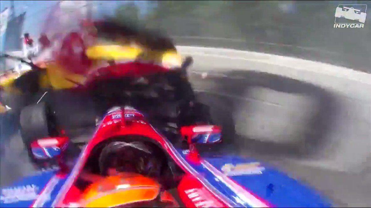 Its when the engine stops but the crash doesn't. Jesus. These guys are very brave. #INDYCAR #f1